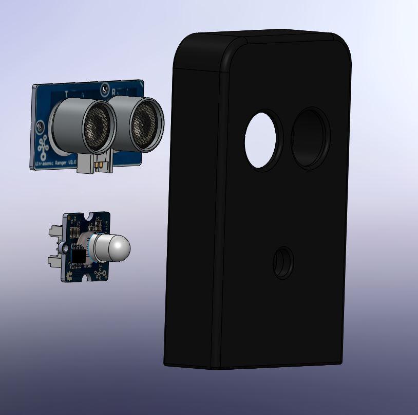 007 -support telemetre + led