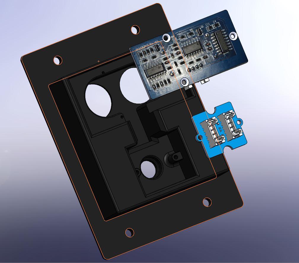 009 -support telemetre + led