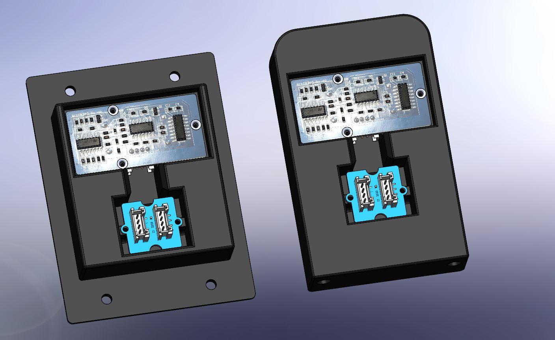 011 -support telemetre + led