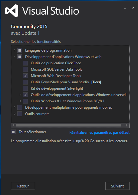 options Visual Studio Community Edition
