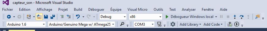 paramétrage Arduino