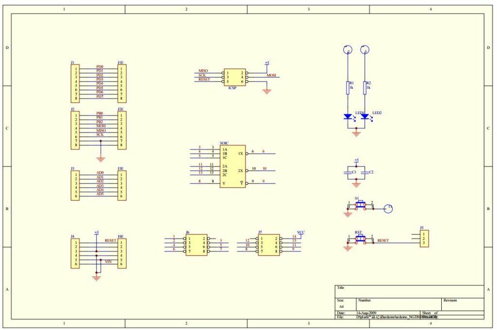 Shield de prototypage DFR0019 schéma de principe pour Arduino Uno