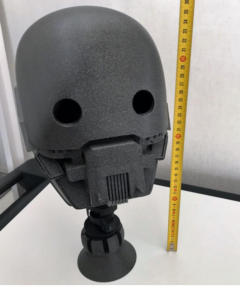 Impression 3D . La tète du robot K2SO
