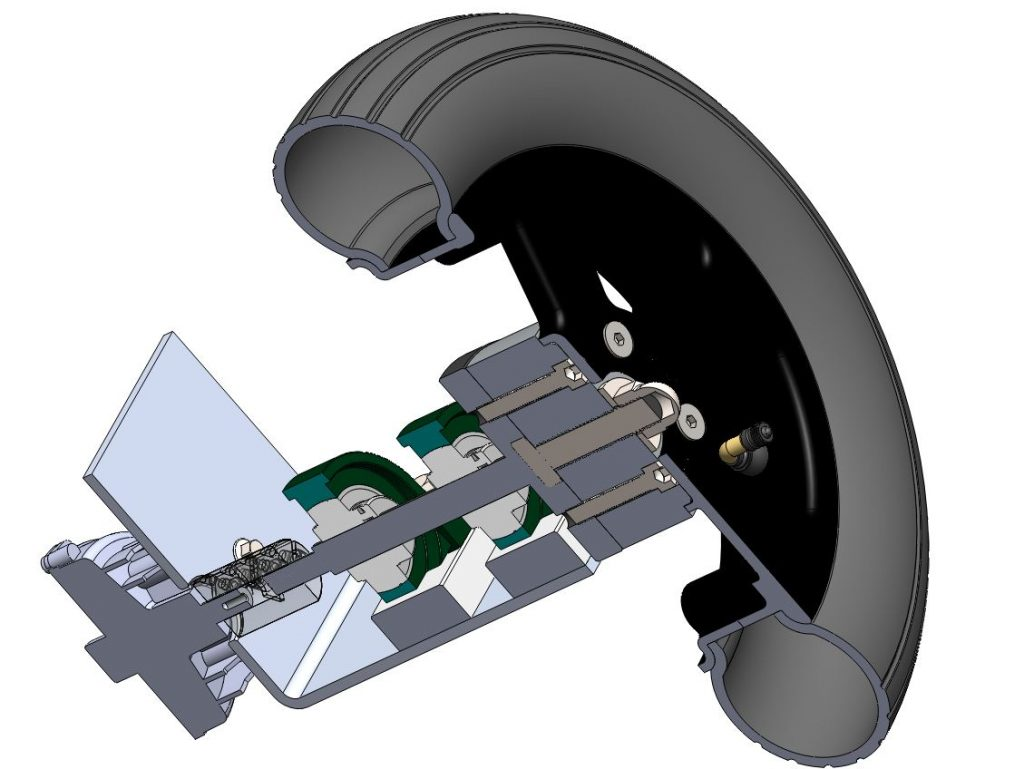 Maya groupe moto-propulseur vue sur le moto-réducteur RedOhm - 002
