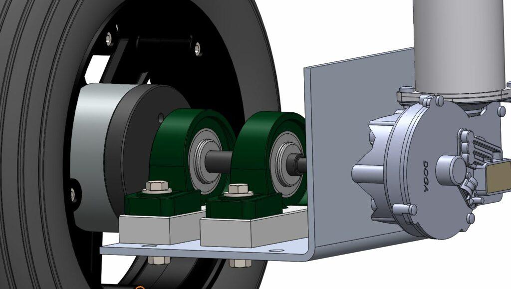 Maya groupe moto-propulseur vue sur le moto-réducteur RedOhm - 001