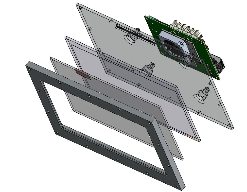 Support pour carte LattePanda - RedOhm - 001