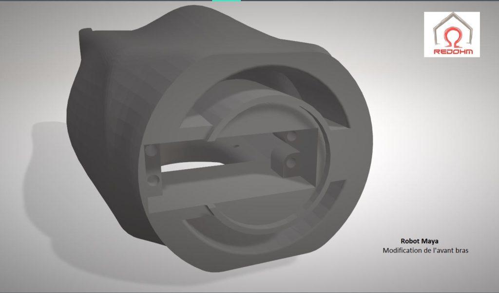 Robot Maya : Modification de l'avant-Bras du robot - RedOhm -