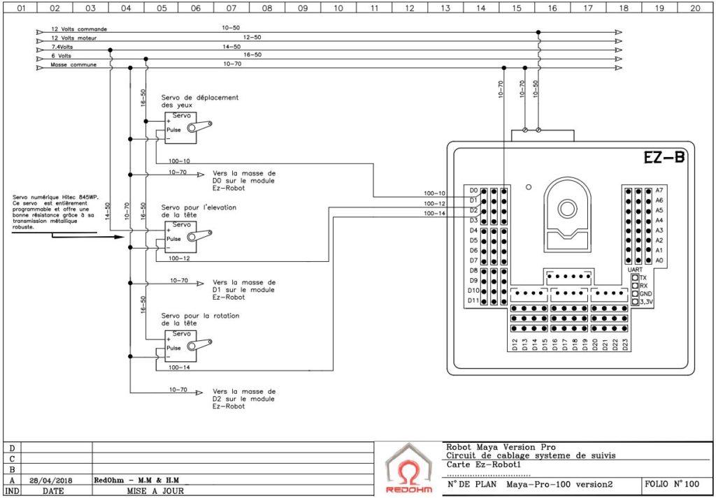 Schéma électrique folio 100 version Pro - RedOhm -