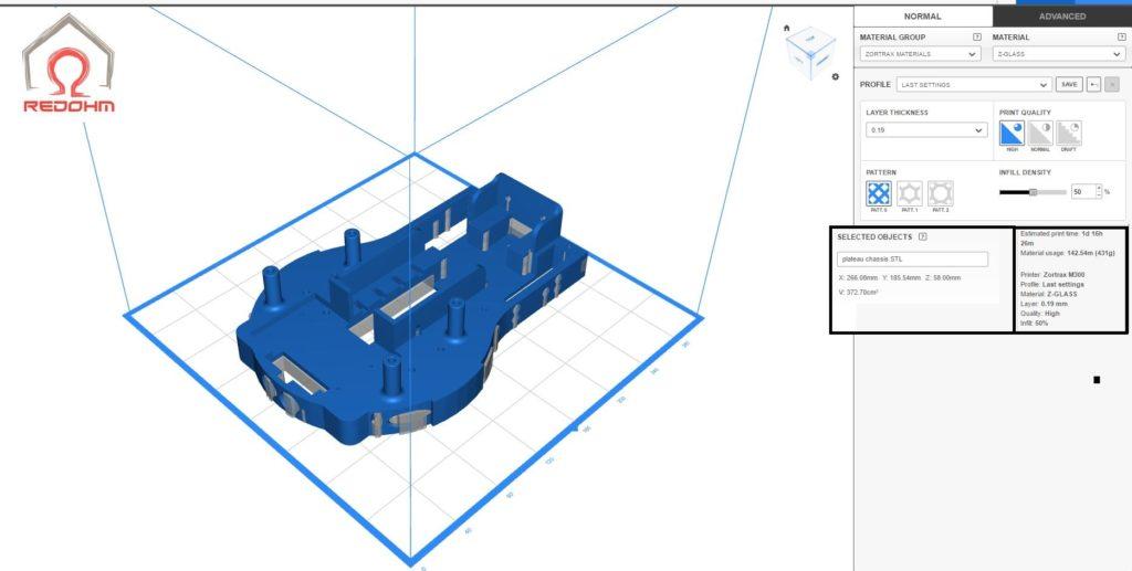 Golbotth8 - Piece g012 plateau pour chassis - RedOhm -