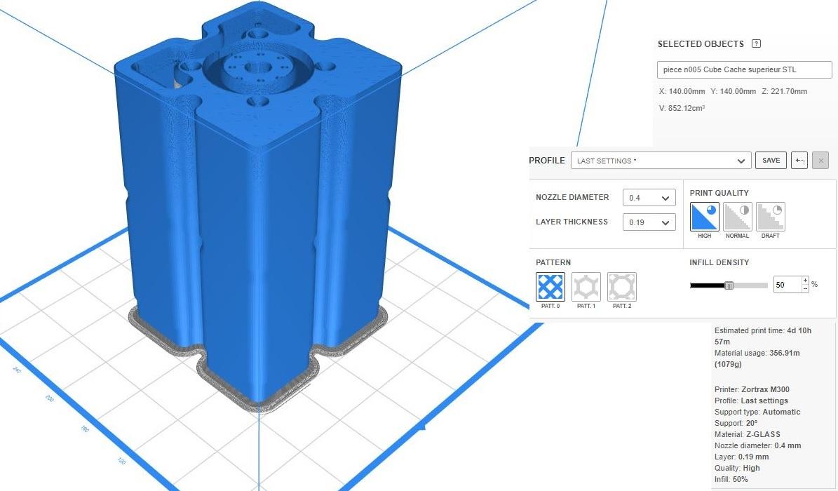 Piece n005 Cube Cache superieur