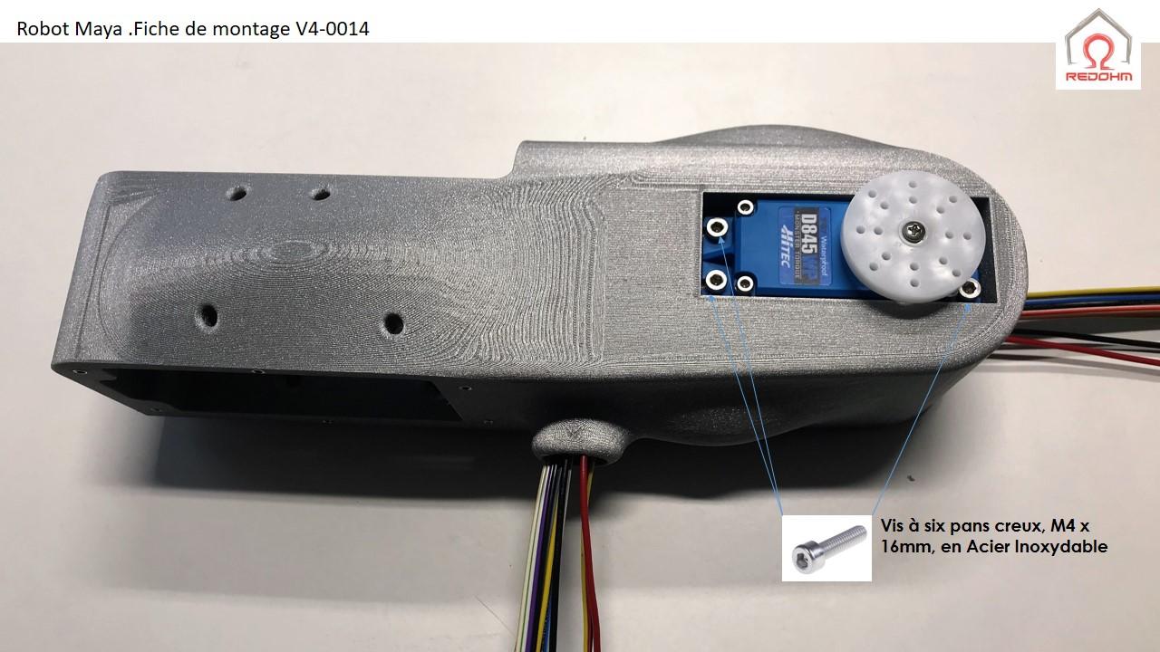 Robot Maya : Modification de l'ensemble du haut du bras - RedOhm