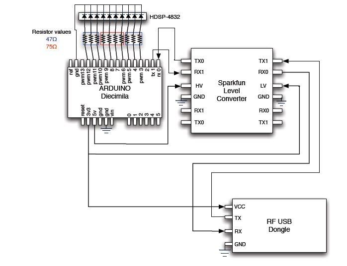 Schema de principe pour arduino