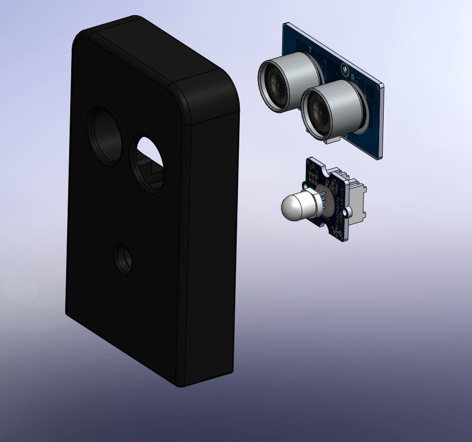 006 -support telemetre + led