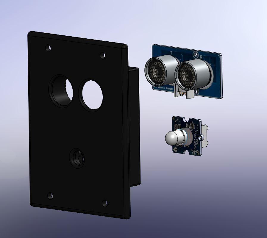 008 -support telemetre + led