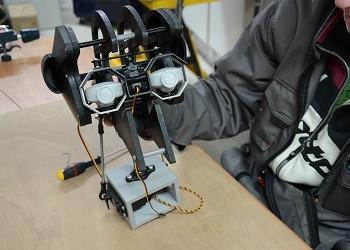RedOhm montage de la tete du robot sentinel