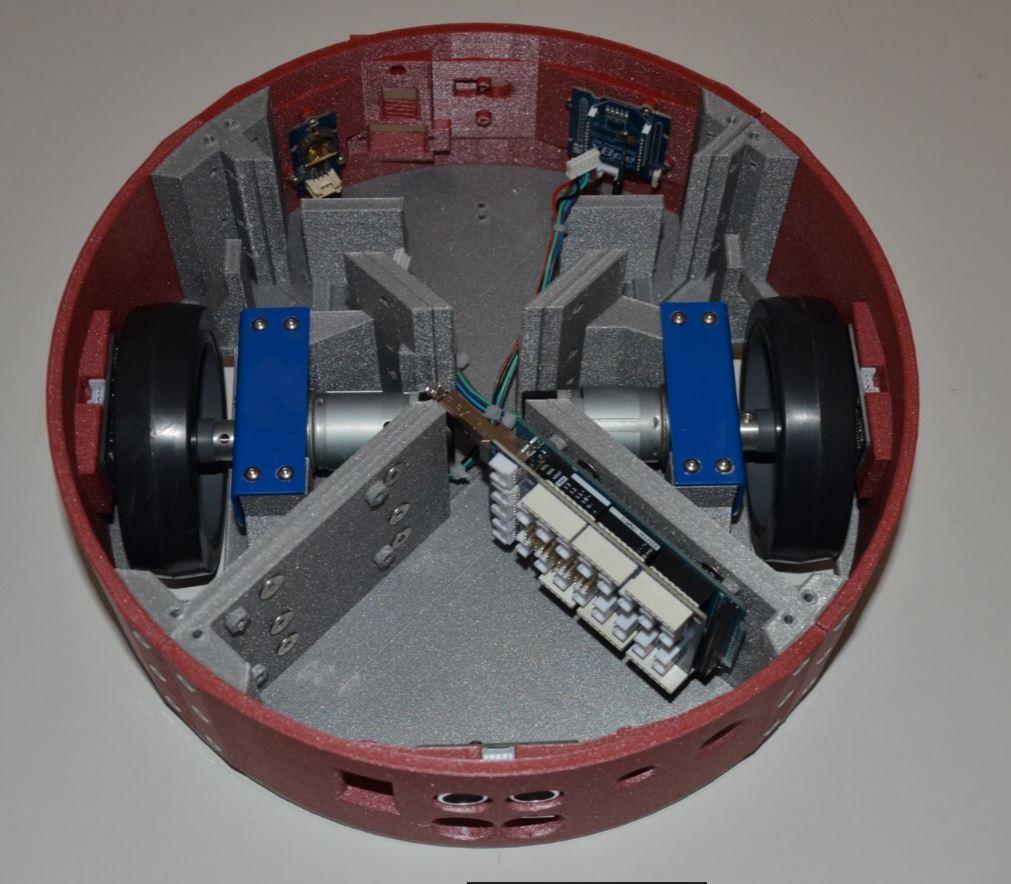Carrosserie du robot Mobi one . RedOhm