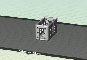 RedOhm cage pour servomoteur partie haute 001