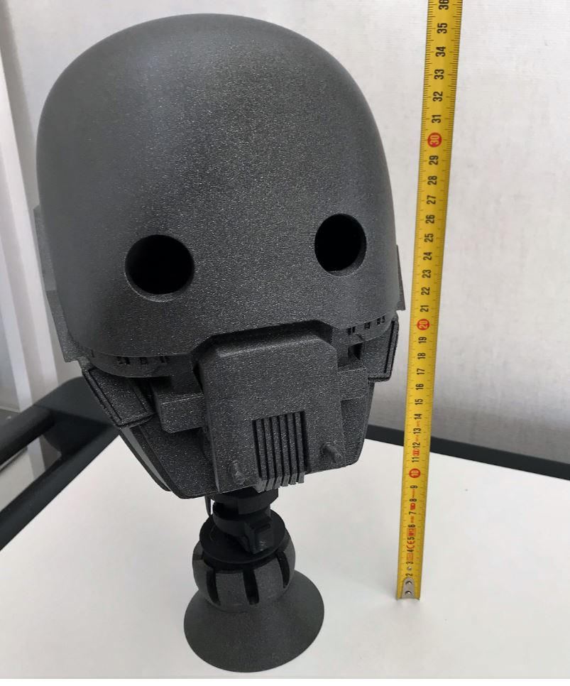 Impression 3D . La tète du robot K2SO