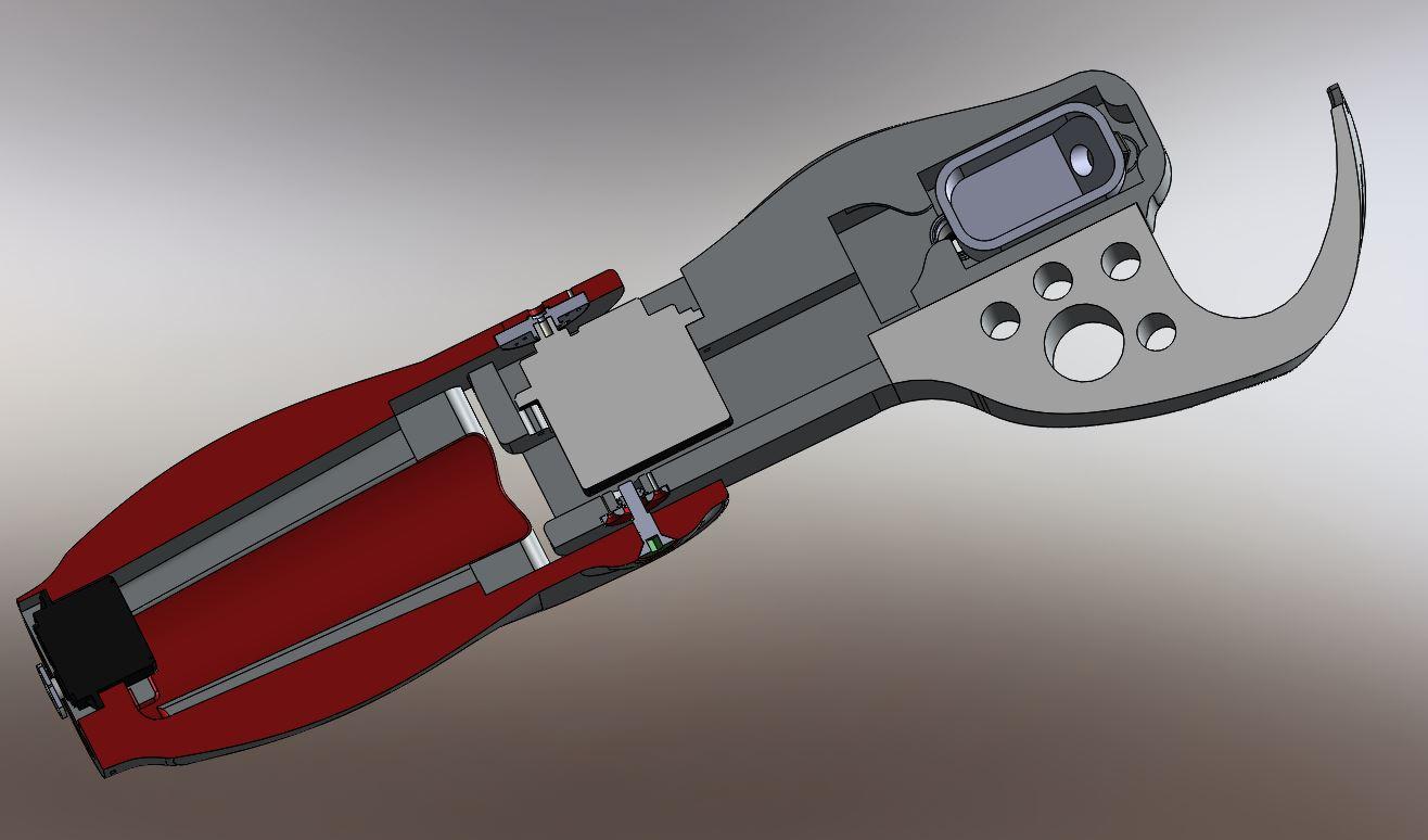 Robot Maya vue en coupe du bras , coude et de l'avant bras RedOhm