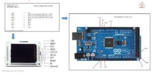 Aide au câblage de l'écran Lcd A000096 sur une carte Arduino Mega ou ADK