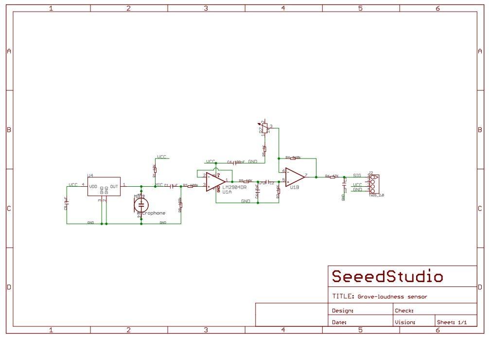 Schéma du capteur sonore Grove 101020063 - RedOhm