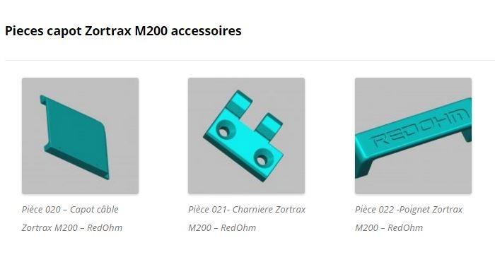 Accessoires pour capot Zortrax M200 - RedOhm