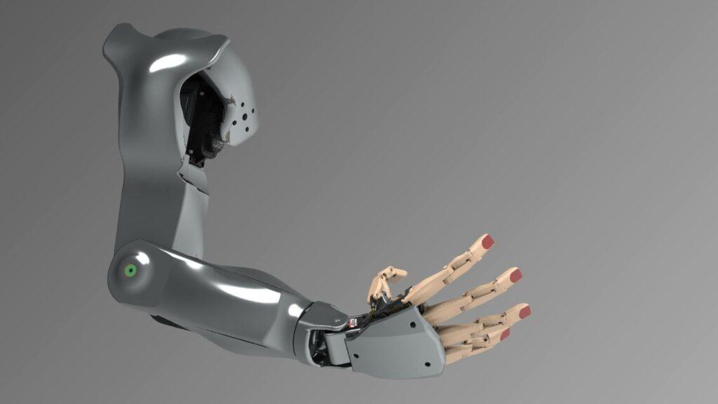 Le haut du bras du robot Maya. - RedOhm