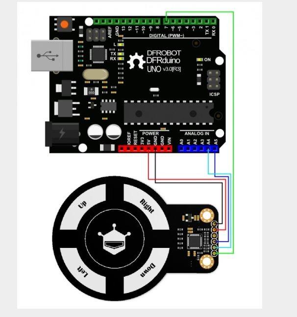 Schéma de principe pour le capteur de mouvement 3D SEN0202 - RedOhm