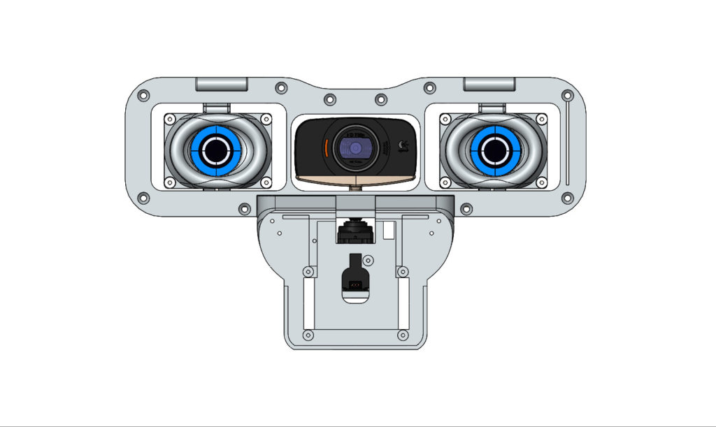 Le robot Maya , Le systéme de vision ( Vue de face )