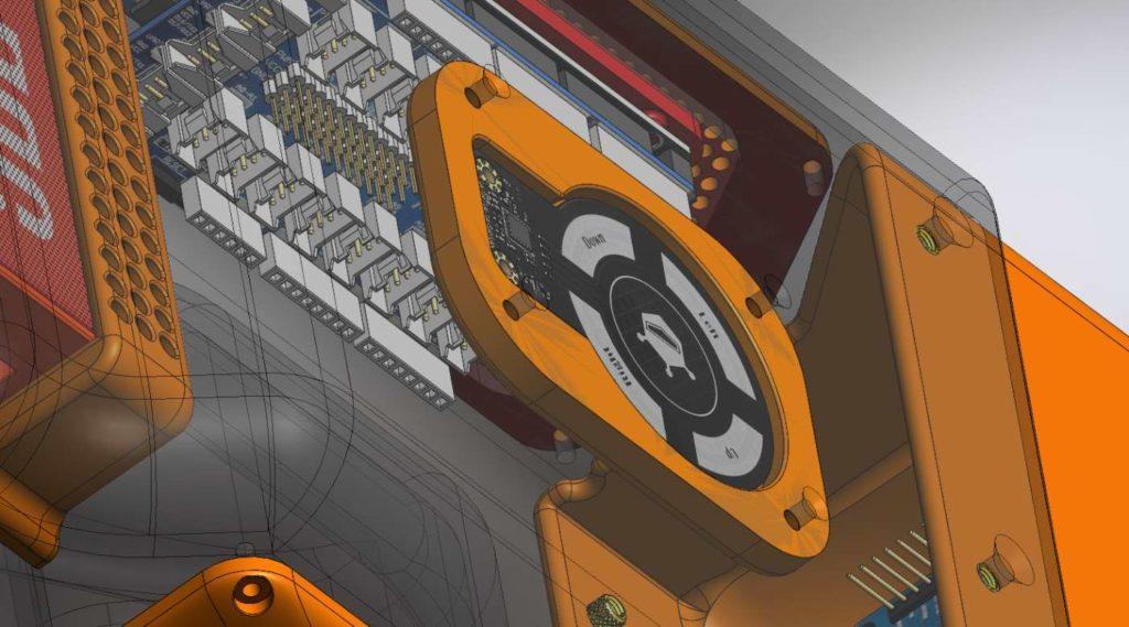 Robot Nestor avec le capteur de mouvement 01