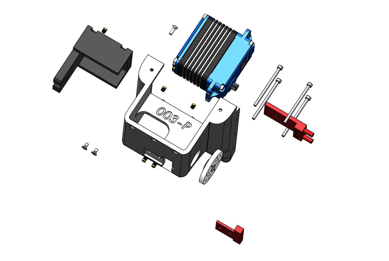 Robot Maya vue éclatée de la mâchoire version Pro - RedOhm -