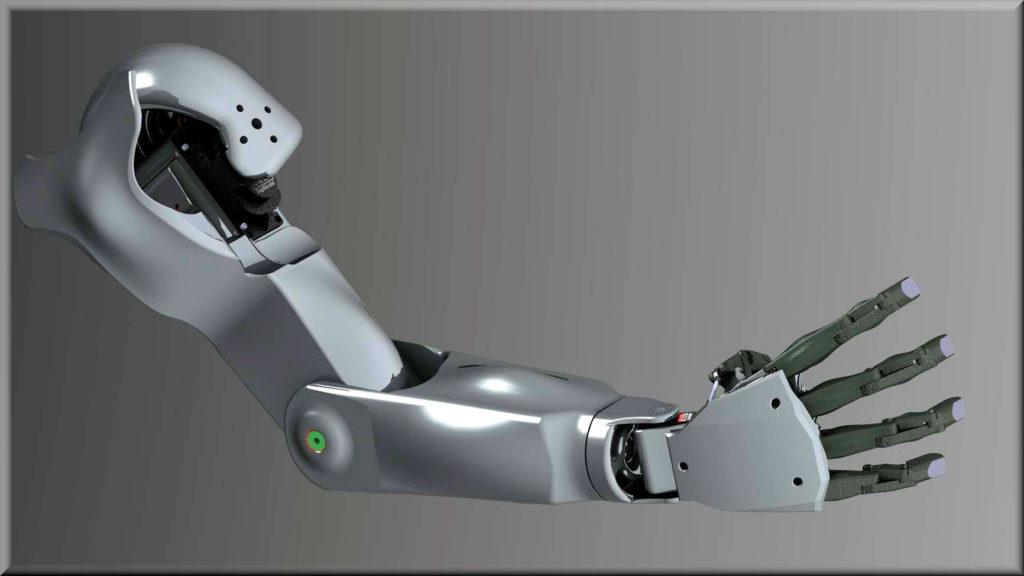 Le bras , avant-bras et la main du robot Maya - RedOhm -
