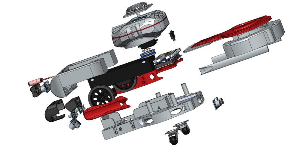 Eclatée vue d'ensemble robot Golbotth8 - RedOhm -