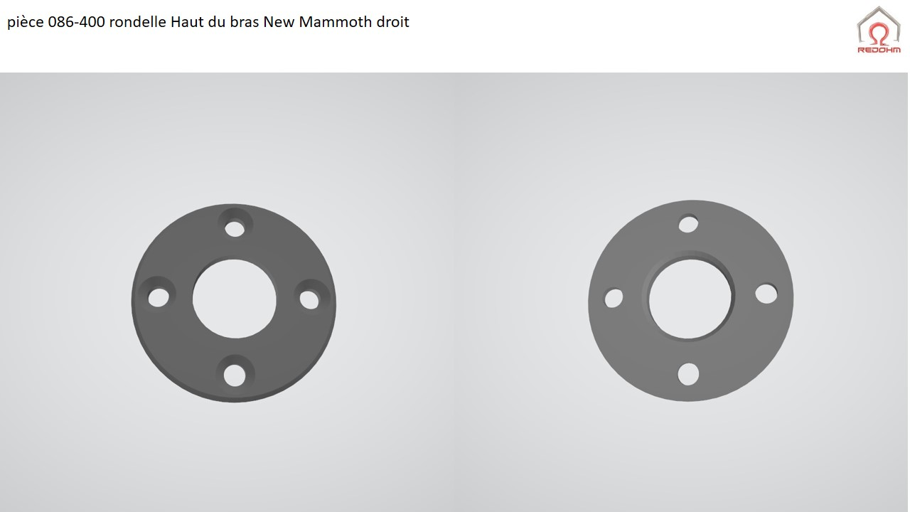 pièce 086-400 rondelle Haut du bras New Mammoth droit