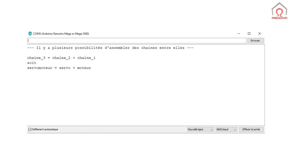 Assembler plusieurs chaines de caractéres String - RedOhm -
