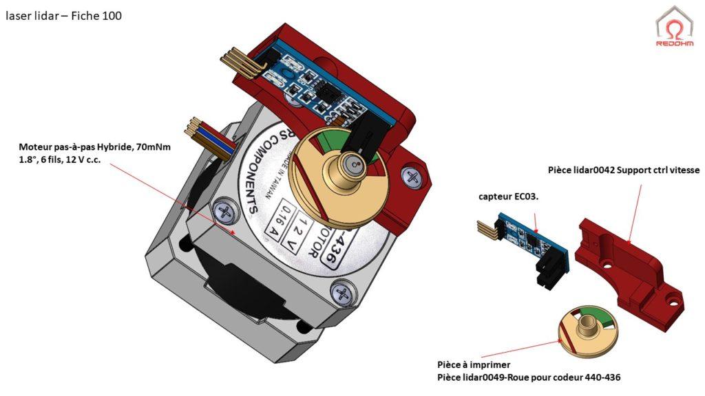 Laser lidar F100A - RedOhm