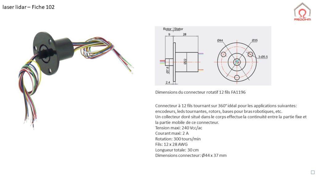 Laser lidar F102 - RedOhm