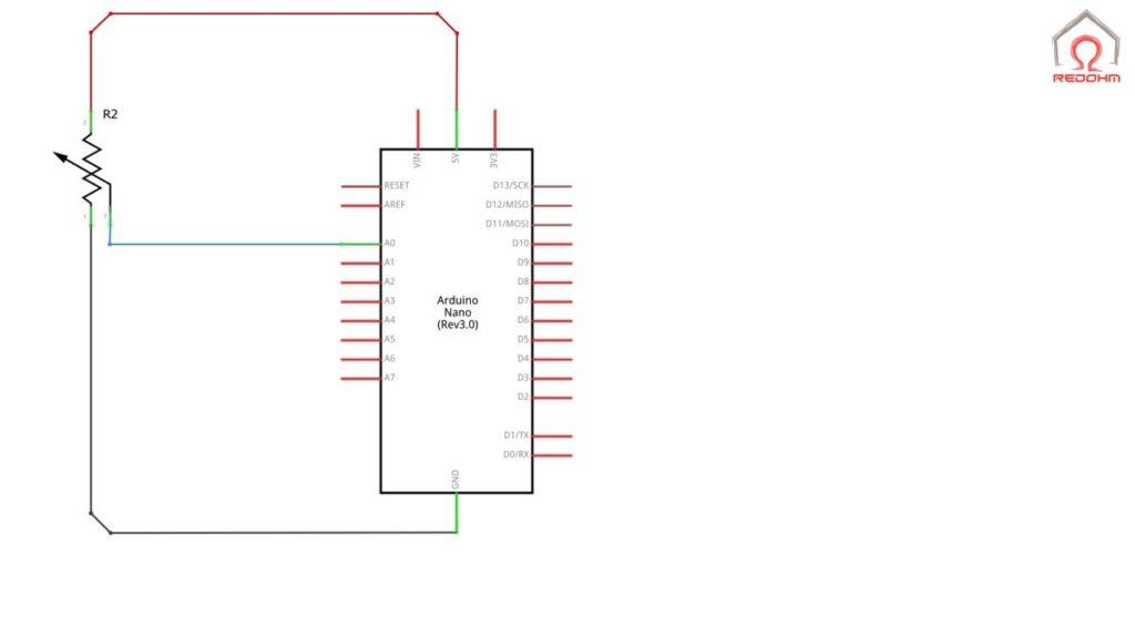 Schéma de prinicpe pour le cablage d'une entré analogique
