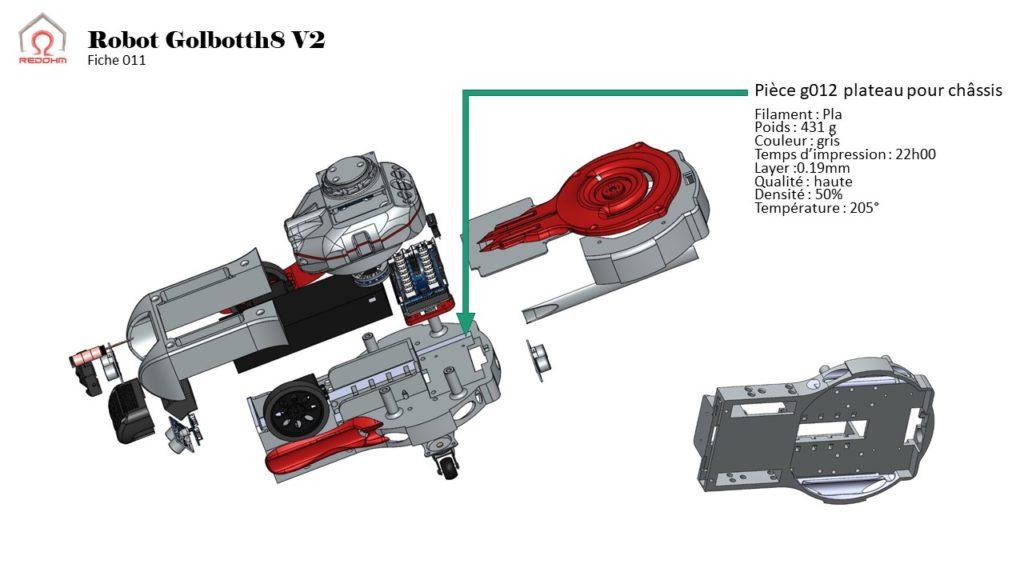 Pièce g012 plateau pour châssis - RedOhm