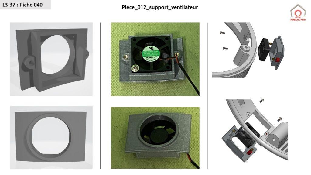L3-37 Support ventilateur RedOhm